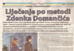 Liječenje po metodi Zdenka Domančića, 16. siječnja 2009.