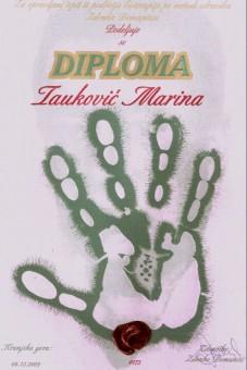 diploma, školovanje za dipl.bioterapeuta po metodi Zdenka Domančića